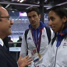 François Hollande : Il essaie de faire coucou à une athlète malvoyante (Vidéo)