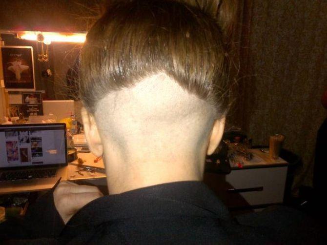 Lady Gaga a rasé ses cheveux