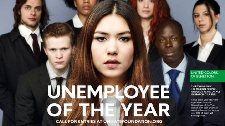 """Benetton : Leur campagne """"Le chômeur de l'année"""" fait le buzz"""