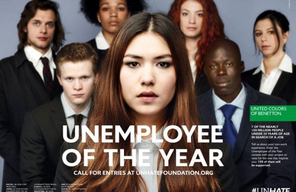 Benetton : Leur campagne Le chômeur de l'année fait le buzz