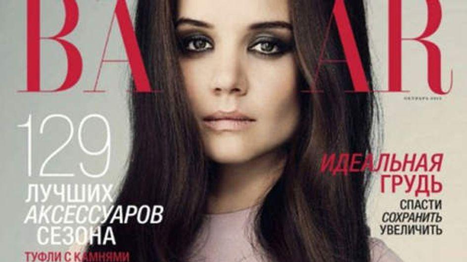 Katie Holmes : Retouchée à l'extrême sur une couverture de magazine (Photos)
