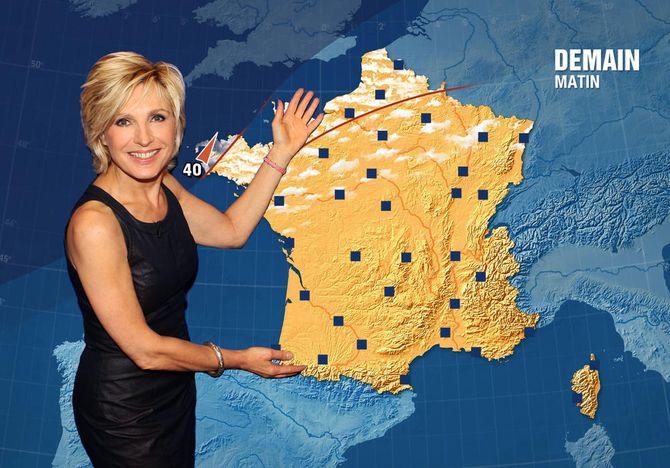 Evelyne Dhéliat présentatrice météo préférée