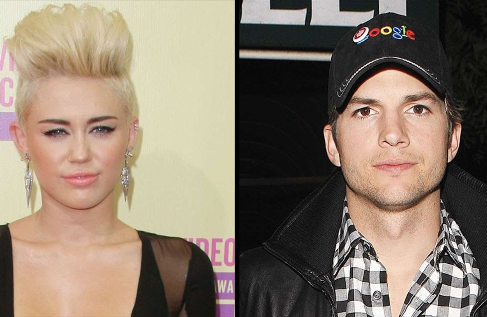 Miley Cyrus : Dans le lit d'Ashton Kutcher (Photos)
