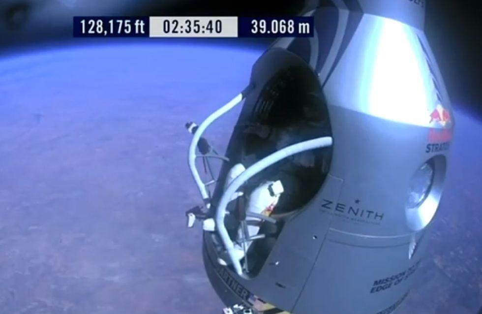 Insolite : L'incroyable record de saut en chute libre de Felix Baumgartner (Vidéo)