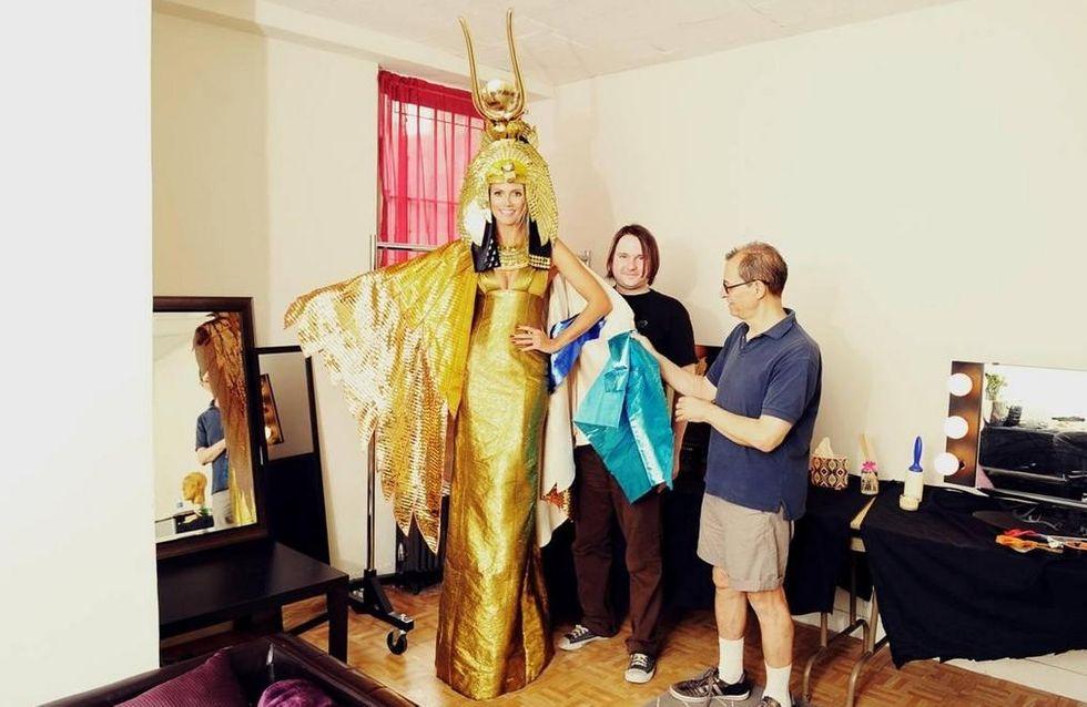 Heidi Klum : Un déguisement très bling bling pour Halloween (Photos et Vidéo)