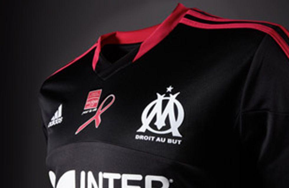 Le nouveau maillot de l'OM dédié à la lutte contre le cancer du sein
