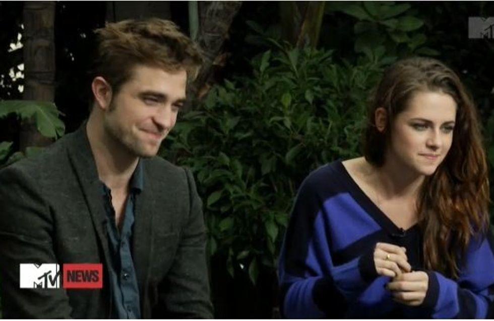 Robert Pattinson et Kristen Stewart : Première interview côte à côte (Vidéo)