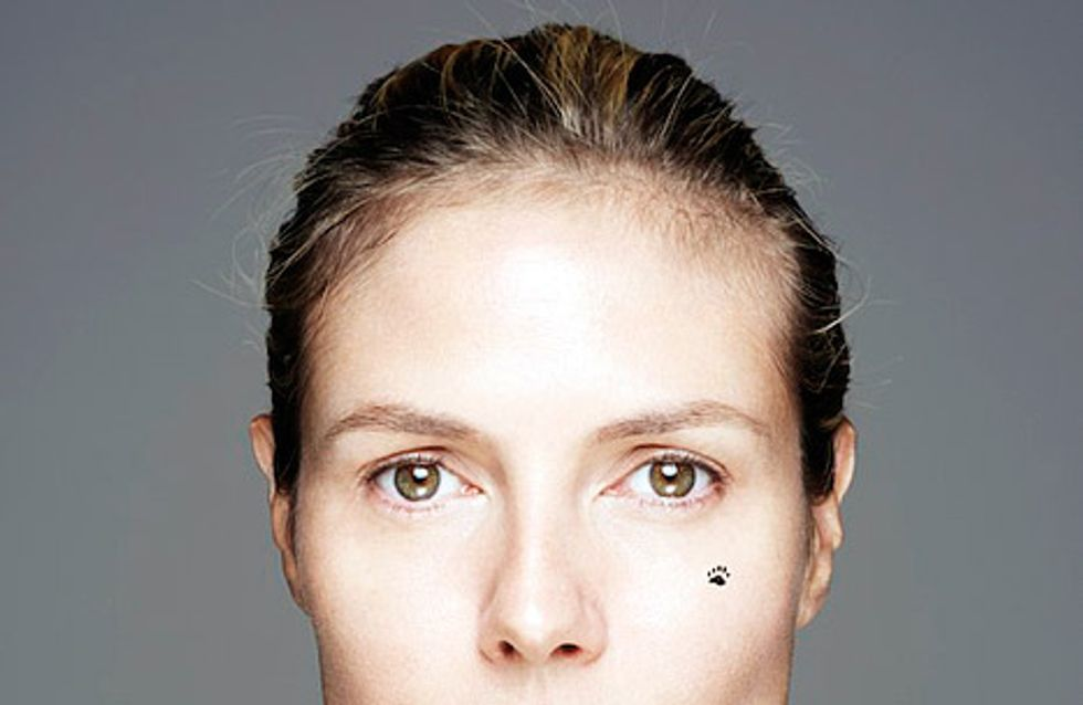 Heidi Klum : Sans maquillage pour la bonne cause