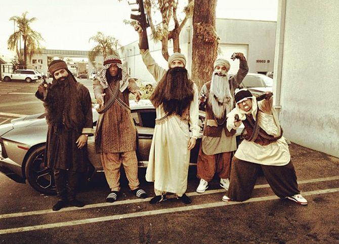 Chris Brown déguisé en taliban