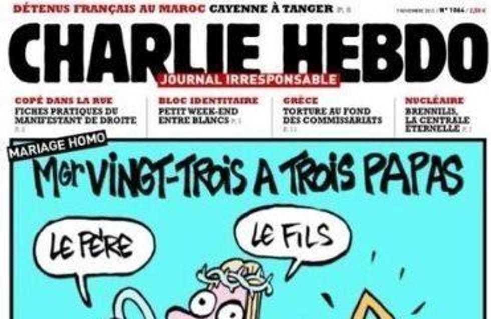 Charlie Hebdo : Sa Une trash sur l'Eglise et le mariage gay