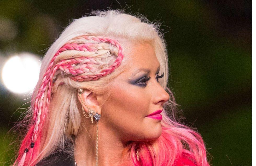 Christina Aguilera : Sa drôle de coupe à base de tresses étranges (Photos)
