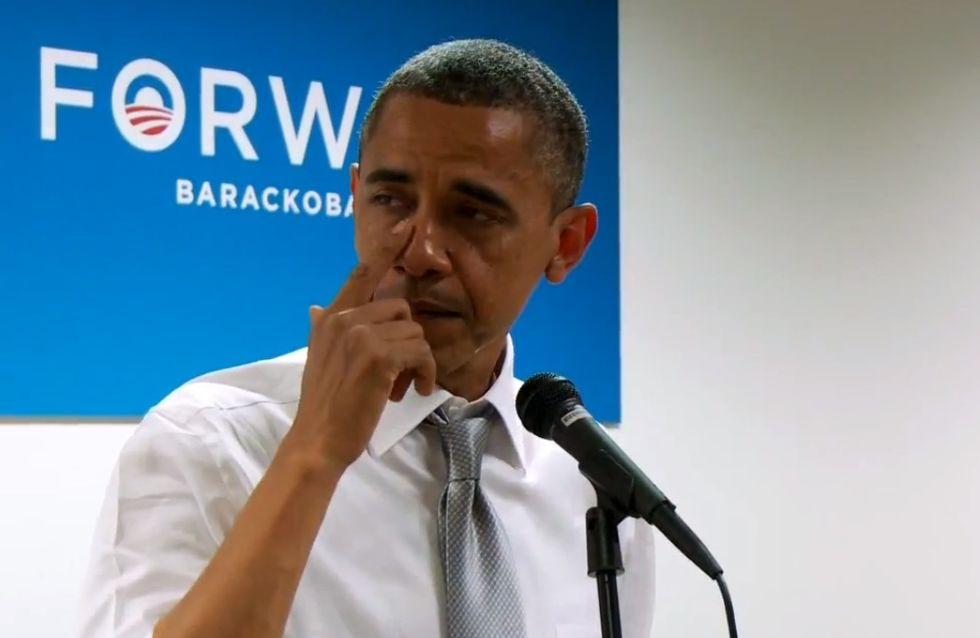 Barack Obama : En larmes pour remercier son équipe de campagne (Vidéo)