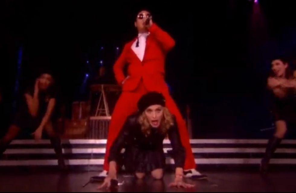 Madonna : Le Gangnam Style dans la peau (Vidéo)