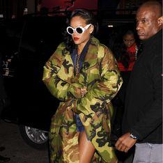Rihanna : Son look camouflage pour faire la guerre au froid (Photos)