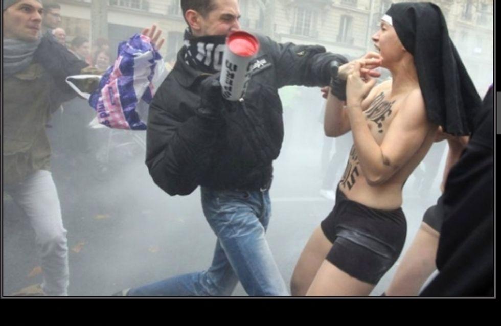 Civitas/Femen : Quand une manifestation anti-mariage gay vire au drame (Vidéo)