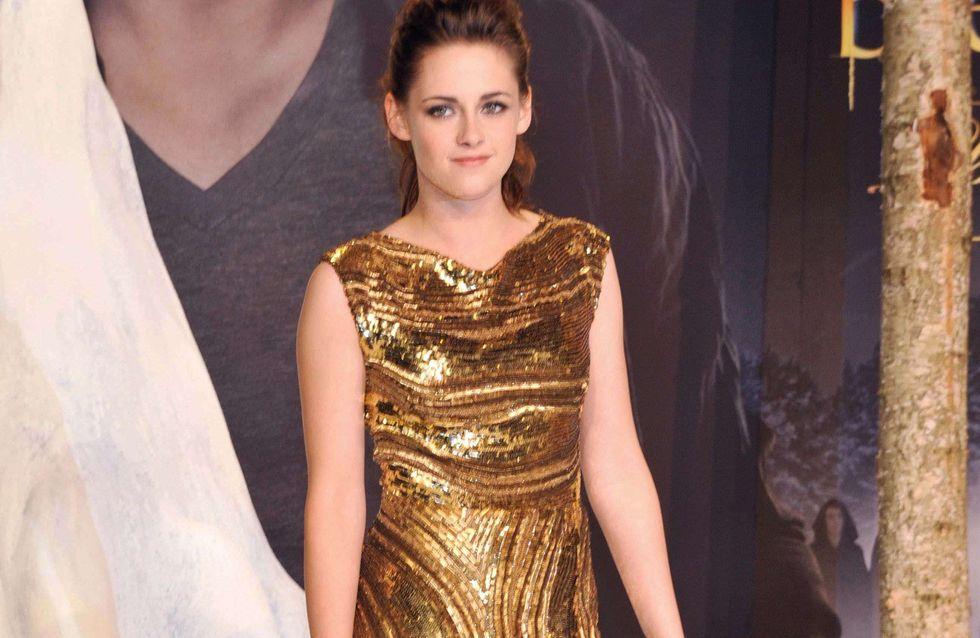 Kristen Stewart, Kate Moss et les autres, toutes fans de la robe dorée ! (Photos)