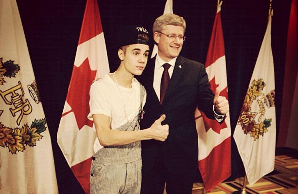 Justin Bieber : Son look ridicule avec le Premier ministre canadien (Photo)