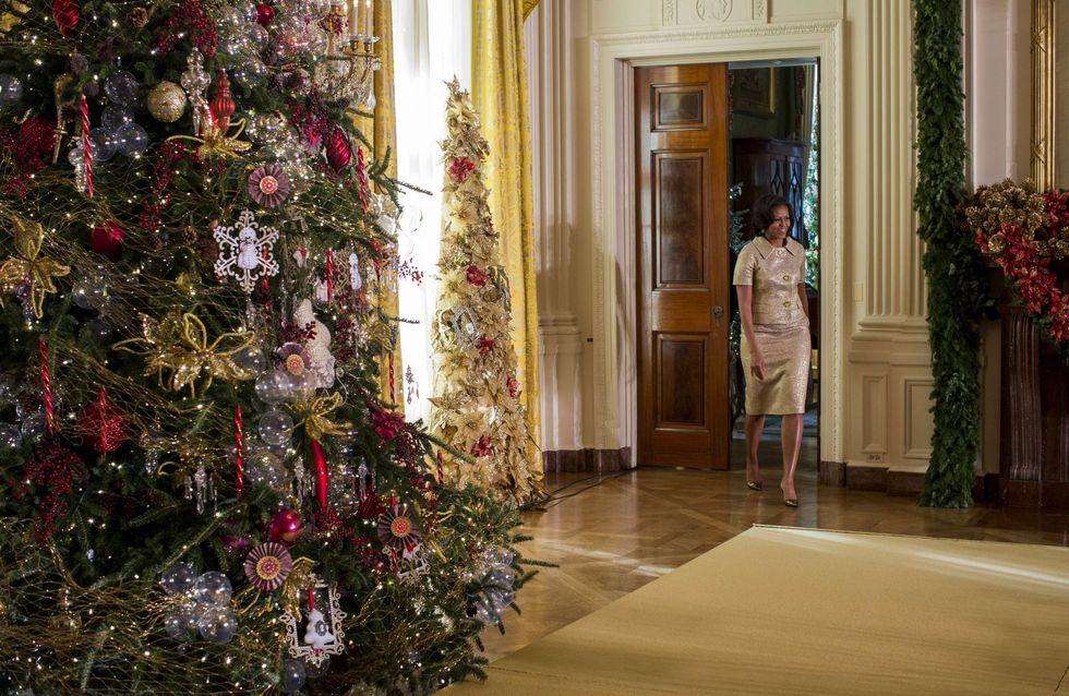 Michelle Obama inaugure la déco de Noël de la Maison Blanche (Photos)