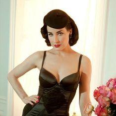 Dita Von Teese lance sa ligne de lingerie (Photos)