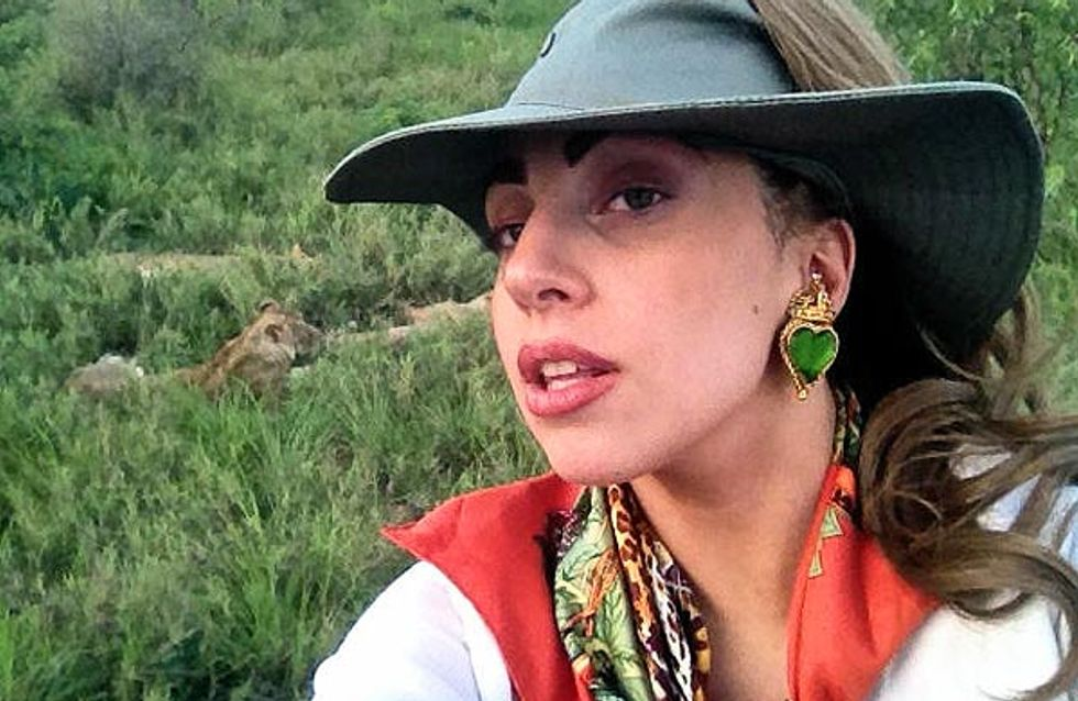 Lady Gaga : Elle se fait peur en Afrique du Sud (Photo)
