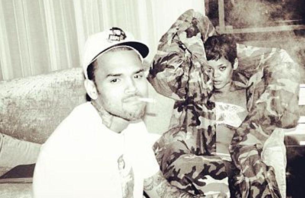 Rihanna : Un réveil sexy aux cotés de Chris Brown (Photo)