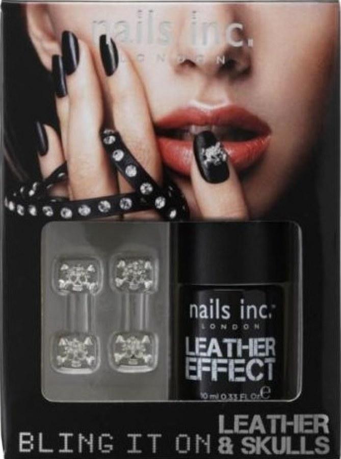 Alexa chung, nails inc, manucure, cuir