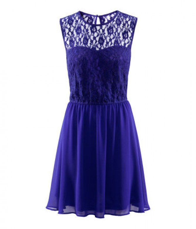 robe bleue - H&M - 19,95 euros