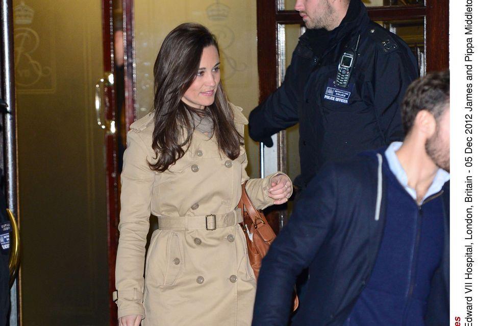 Pippa Middleton : Son trench-coat déjà en rupture de stock ! (Photos)