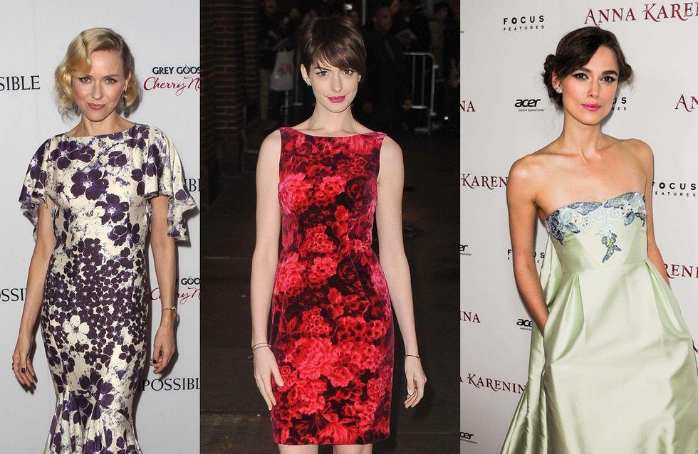 La robe imprimée à fleurs : 3 stars, 3 looks (Photos)