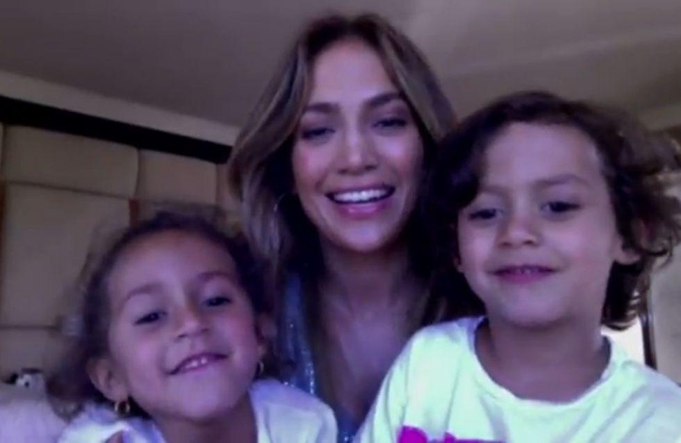Jennifer Lopez : Avec ses jumeaux, elle lance un appel aux dons (Vidéo)