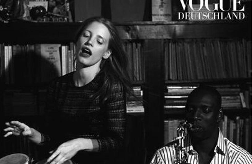 Omar Sy et Jessica Chastain : Entrelacés en couverture de Vogue (Photos)