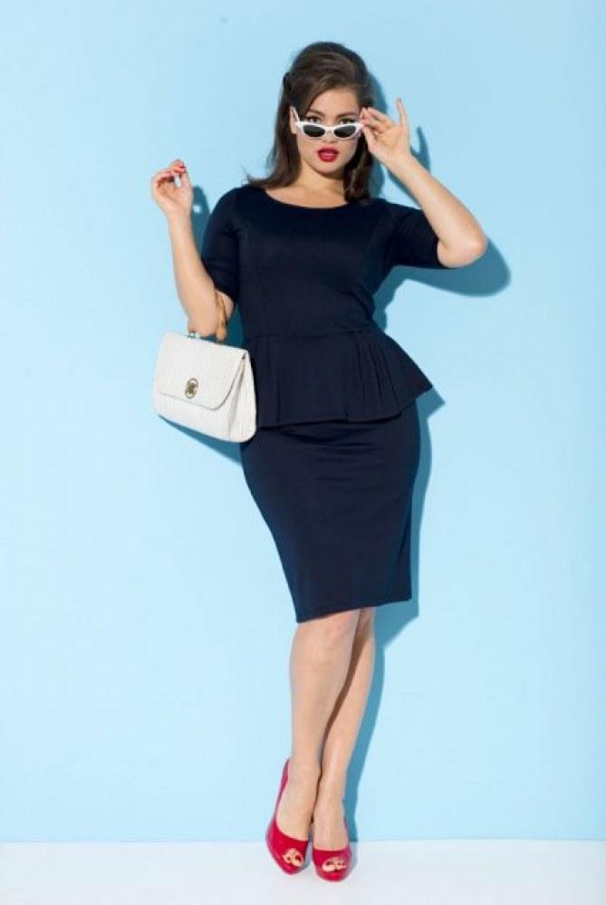 Tara Lynn, Taillissime, La Redoute, robe noire, rondes