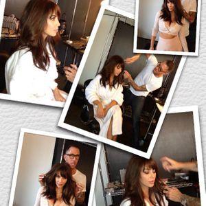 kim kardashian, Chris McMilan, coupe de cheveux, frange à clipper, fausse frange