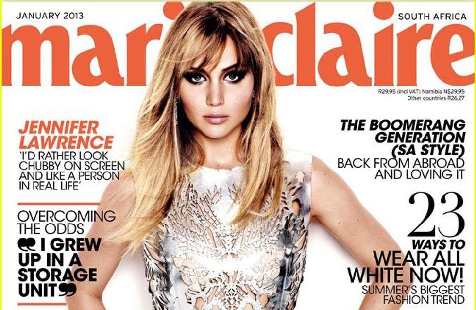 Jennifer Lawrence : Electrique en couverture du Marie-Claire (Photo)