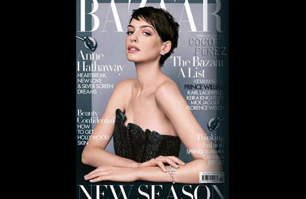 Anne Hathaway : Très amaigrie en couverture du Harper's Bazaar (Photo)