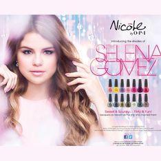 Selena Gomez : Canon pour la campagne de sa collection de vernis O.P.I (Photos)