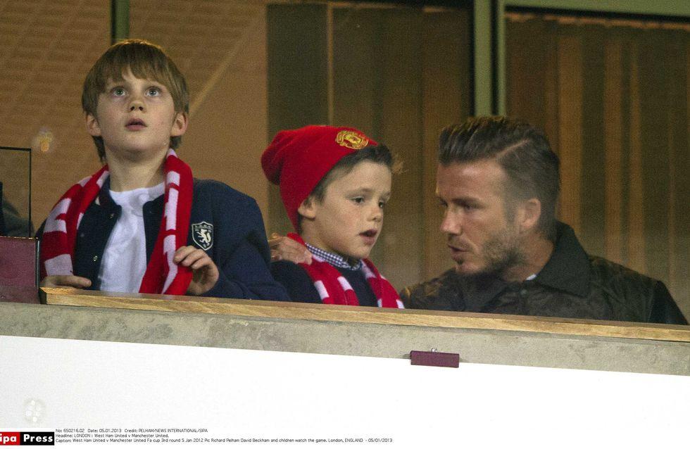 David Beckham : Virée londonienne avec ses fils (Photos)