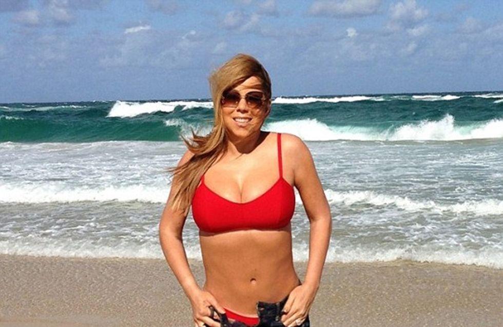 Mariah Carey : Sexy comme jamais en bikini rouge (Photo)