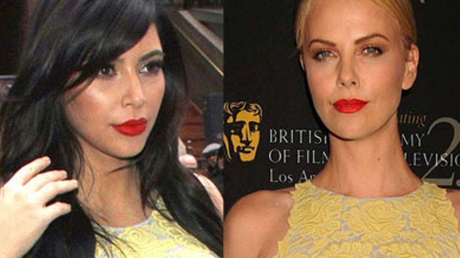 Kim Kardashian vs Charlize Theron : Qui porte le mieux la robe Stella McCartney ? (Photos)
