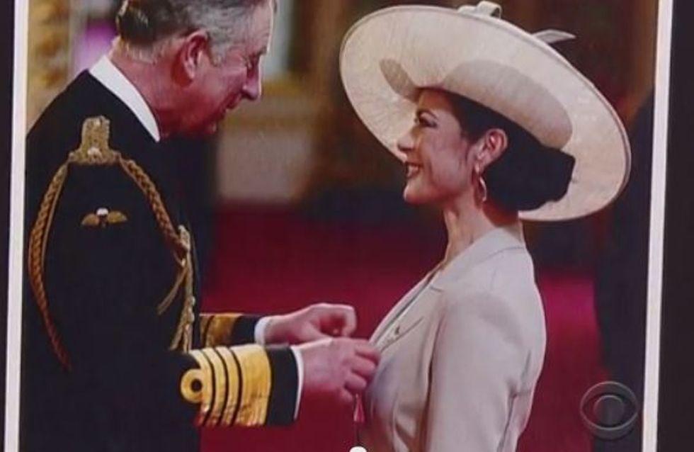 Catherine Zeta-Jones accuse le prince Charles de lui avoir touché les seins (Vidéo)