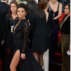 Eva Longoria : Un téton qui pointe aux Golden Globes (Photos)