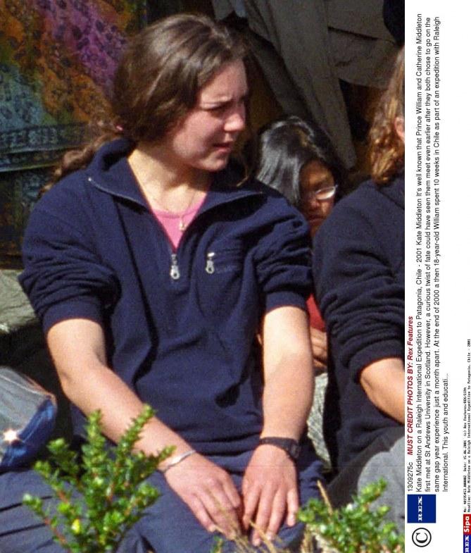 Kate Middleton en 2001 en Patagonie