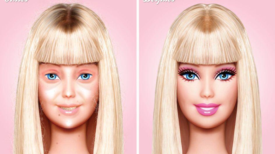 Barbie : Voici à quoi elle ressemblerait sans maquillage !