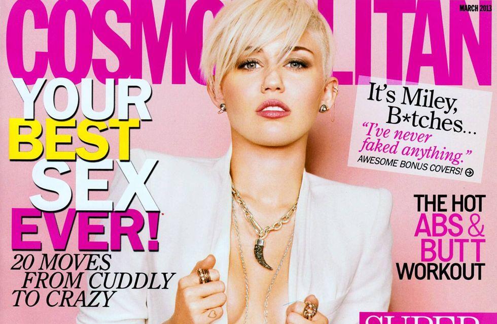Miley Cyrus : Topless pour un magazine (Photos)
