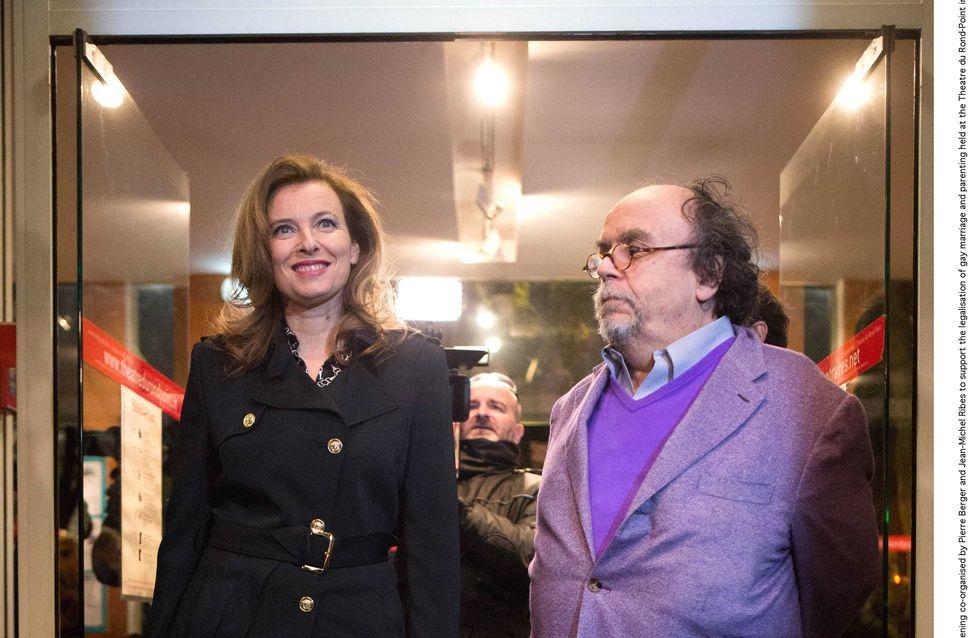 Valérie Trierweiler : Elle assure en trench noir Versace (Photos)