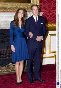 Kate Middleton et le prince William à leurs fiançailles en 2010