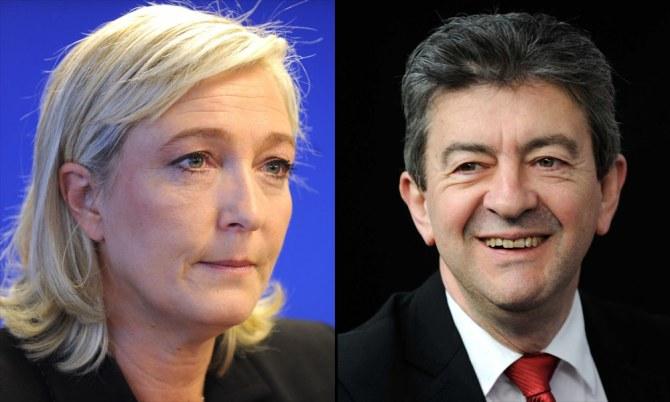 Jean-Luc Mélenchon Marine Le Pen sondages présidentielle 2012