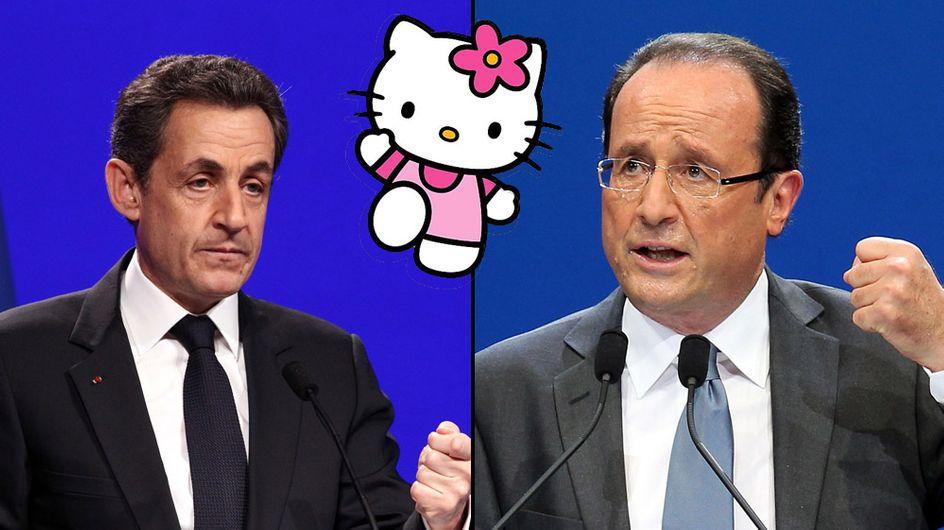 Présidentielle 2012 : Hello Kitty vole la vedette à Hollande et Sarko
