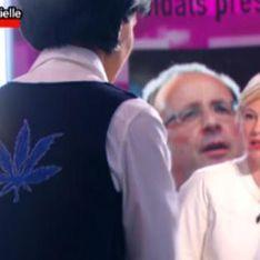 Rachida Dati : Une feuille de cannabis sur son gilet ! (Vidéo)