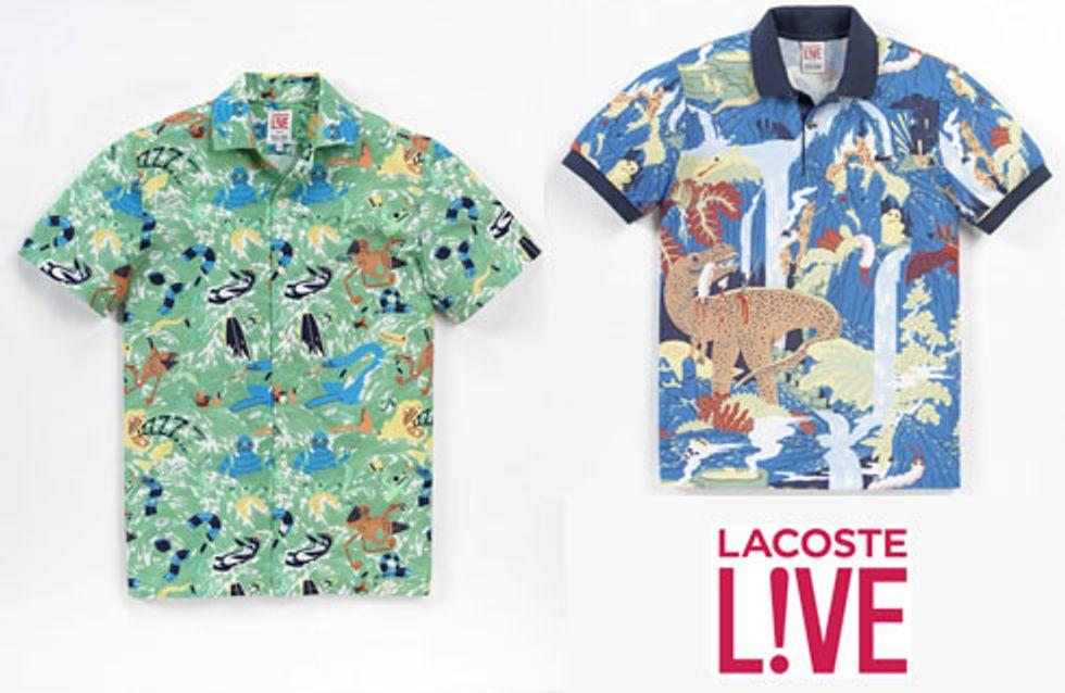 Lacoste : Lacoste L!ve lance une collection avec Micah Lidberg